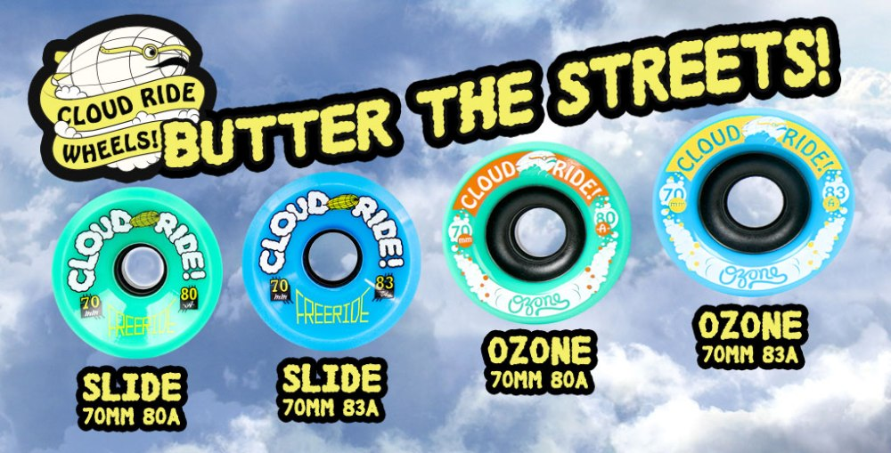 Cloud Ride Ozone Longboard Wheels
